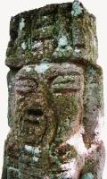 Detalle de una figura de piedra