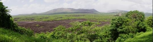 Vista panorámica a la cuenca volcánica